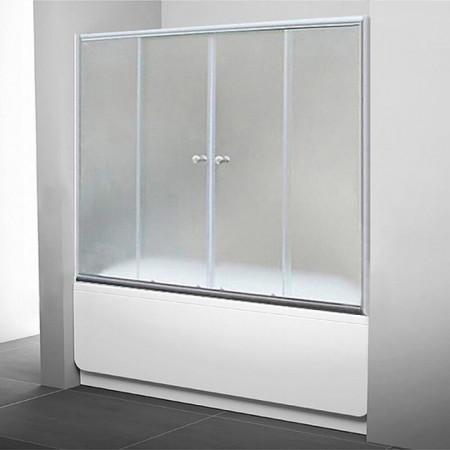 Шторка на ванну 1MarKa 170 профиль хром, стекло прозрачное