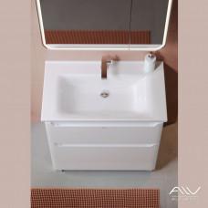 Тумба с раковиной для ванной Lana 80 белая