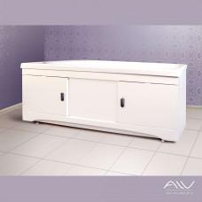 Экран под ванну раздвижной (купе) 180 см МДФ белый