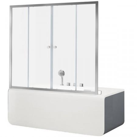 Шторка на ванну Aquanet Alfa 5 NAA6142 160 00196044 профиль Хром стекло прозрачное