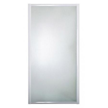 Шторка на ванну 1MarKa 75 боковая профиль белый, стекло рифленое